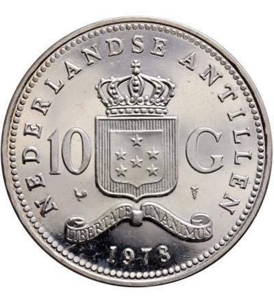 Antyle Holenderskie 10 guldenów 1978 - Proof