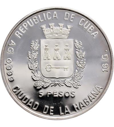 Kuba 5 Pesos 1989, Mundial Italia 1990 - Proof