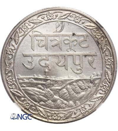Indie - Mewar 1 rupia 1928 - NGC MS 64