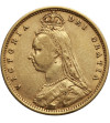 Wielka Brytania 1/2 suwerena 1892