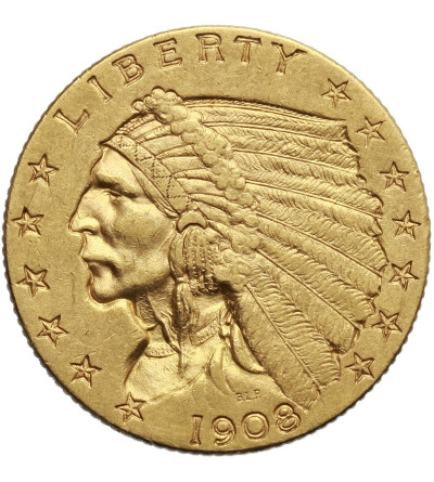 USA 2,5 dolara 1908, Quartel Eagel - Indian Head