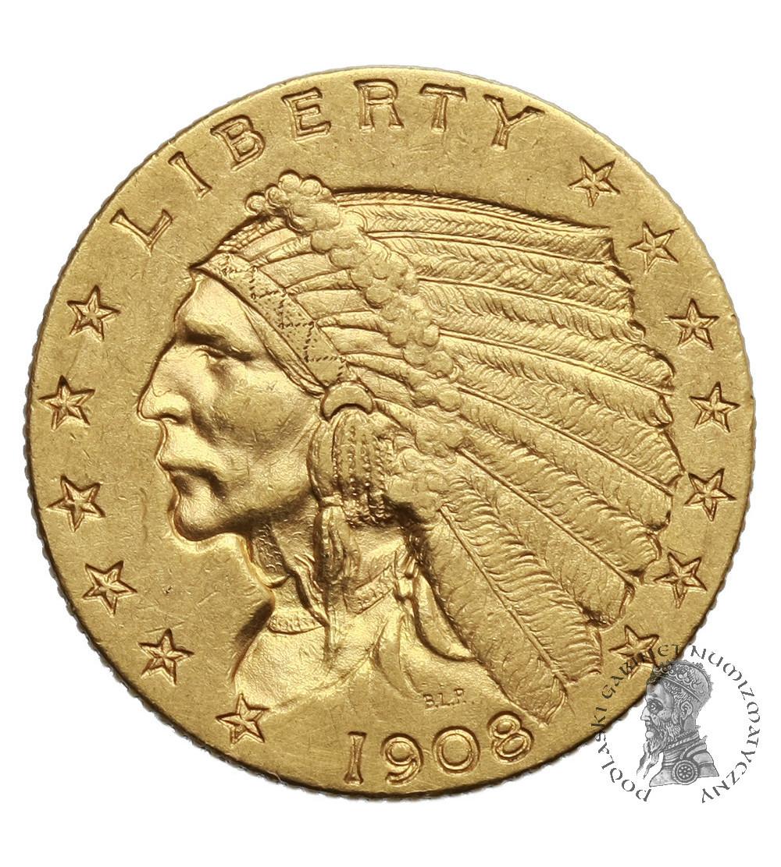 USA 2,5 dolara 1908, Quartel Eagel - Indian Head