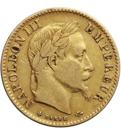 Francja 10 franków 1866 BB, Strasburg, Napoleon III