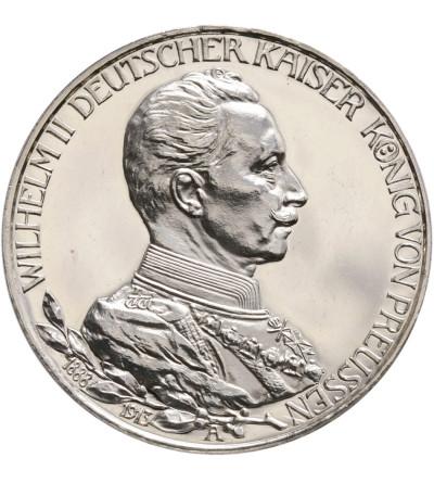 Prusy 3 marki 1913, 25 lecie panowania Wilhelma II - Proof