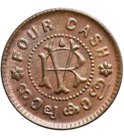 Indie - Travancore 4 Cash bez daty (1906-1935)