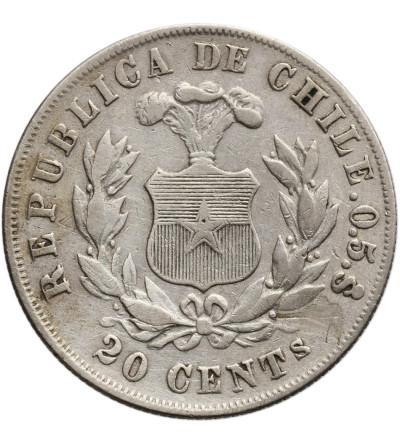 Chile 20 Centavos 1879