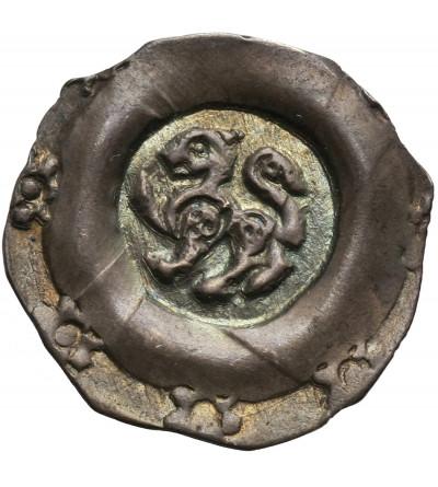 Niemcy. Norymberga Reichsmünzstätte, Friedrich II 1215-1250. AR Pfennig ok. 1245-1250