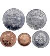 Bhutan 5, 10, 25, 50 Chhertum 1 Ngultrum 1979 - zestaw Proof