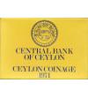 Ceylon 1, 2, 5, 10, 25, 50 Cents 1 Rupee 1971 - Proof Set