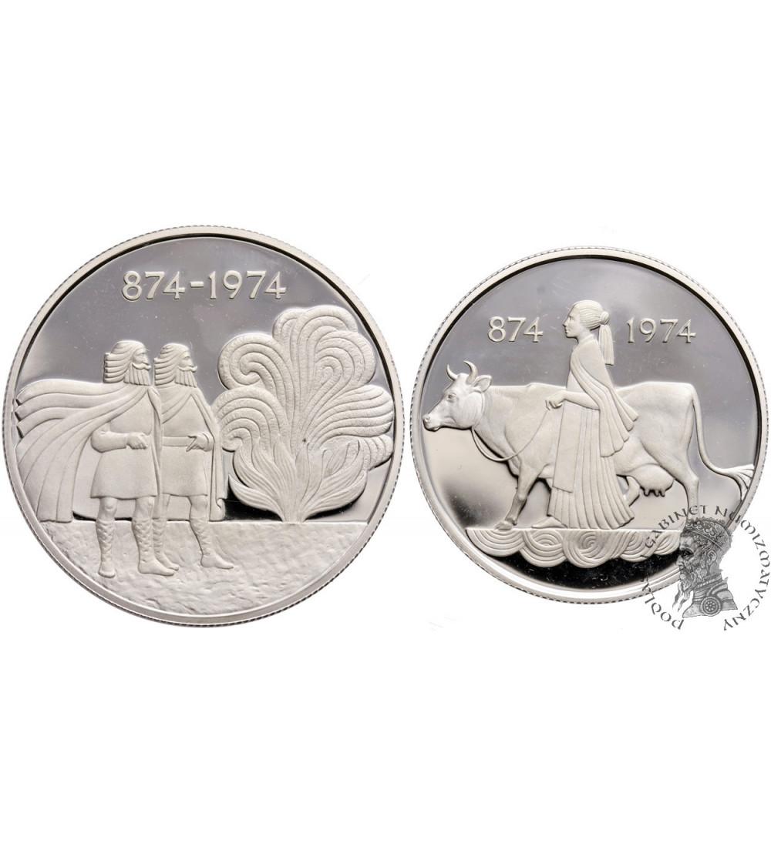 Islandia 500 i 1000 Kronur 1974, Proof set