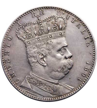 Eritrea 5 Lire (Tallero) 1891, Umberto I 1878-1900