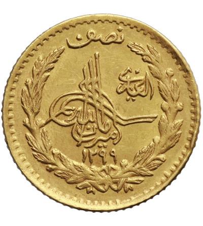 Afghanistan 1/2 Amani (5 Rupees) AH 1299 / 1920 AD