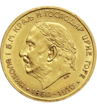 Czarnogóra 10 Perpera 1910, Wiedeń, Mikołaj I