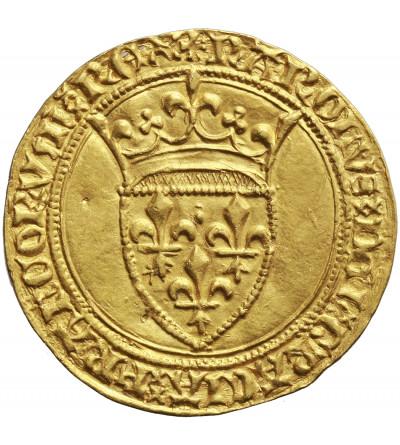 France Ecu d'or a la Couronne, Charles VI 1380-1422