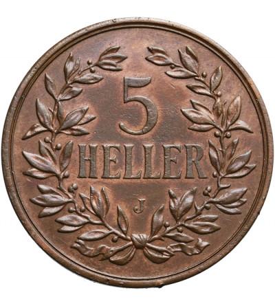 Niemiecka Afryka Wschodnia 5 Heller 1908 J