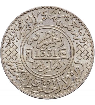 Maroko 1/2 Rial (5 Dirhams) AH 1331 / 1912 AD, Yusuf