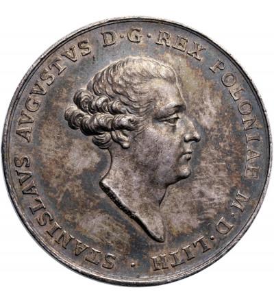 Ag medal autorstwa T. Pingo, wybity w 1764 roku z okazji koronacji Stanisława Augusta Poniatowskiego
