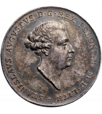 Silver Medal by Thomas Pingo, struck in 1764 on the coronation of Stanisław August Poniatowski,