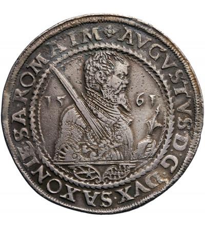 Niemcy. Saksonia. Talar (Reichstaler) 1561 HB, Drezno, August 1553-1586