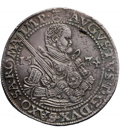 Niemcy. Saksonia. Talar (Reichstaler) 1574 HB, Drezno, August 1553-1586
