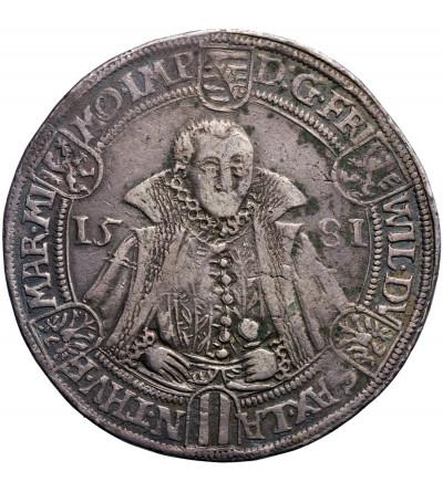 Niemcy. Saksonia Weimar. Talar (Reichstaler) 1581, Saalfeld, Friedrich Wilhelm i Johann 1573-1602