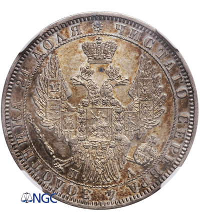 Rosja. Rubel 1850 СПБ-ПA, St. Petersburg - NGC MS 62