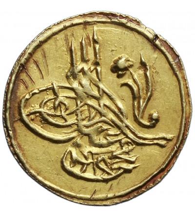 Turcja 1/4 Zeri Mahbub AH 1223 rok 3 / 1810 AD, Mahmud II 1808–1839 AD, Konstantynopol