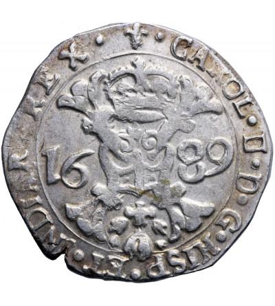 Niderlandy Hiszpańskie (Belgia). Talar (Patagon) 1689, Flandria, mennica Brugia, Karol II
