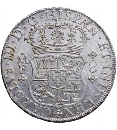 Meksyk 8 reali (Columnario / Pillar Dollar) 1766 MF, Mexico City, Karol III