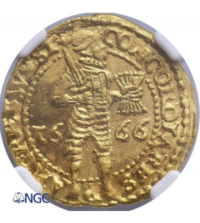 Netherlands. Ducat (Gouden Dukaat) 1666, West Friesland - NGC MS 65