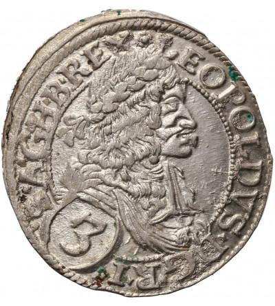 Austria (Święte Cesarstwo Rzymskie). 3 krajcary 1673, Wiedeń, Leopold I