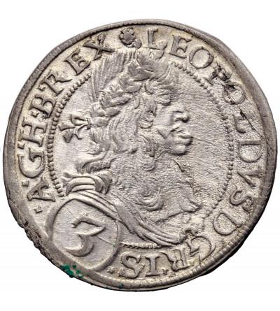 Austria (Święte Cesarstwo Rzymskie). 3 krajcary 1670, Wiedeń, Leopold I