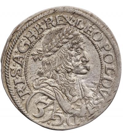 Austria (Święte Cesarstwo Rzymskie). 3 krajcary 1672, Wiedeń, Leopold I
