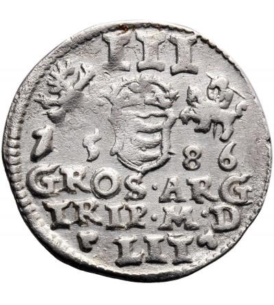 Polska. Stefan Batory. Trojak (3 grosze) 1586, Wilno - bez herbu Lis