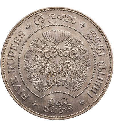 Cejlon 5 rupii 1957, 2500 lat buddyzmu