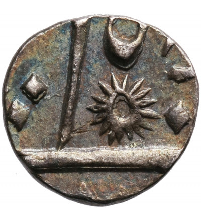 Indie Brytyjskie (East India Company) 1/8 rupii RY 2 (4?), Bengal, Murshidabad. Shah Alam II