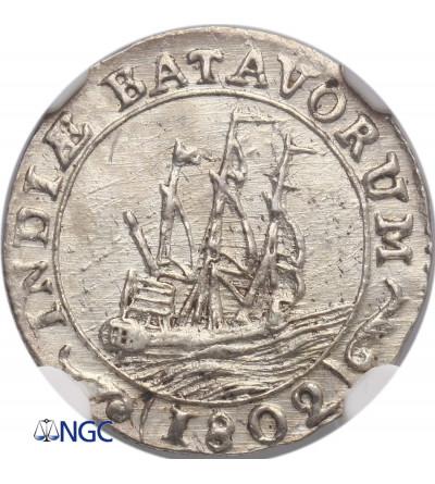 Netherlands East Indies 1/16 Gulden 1802, Batavian Republic - NGC MS 62