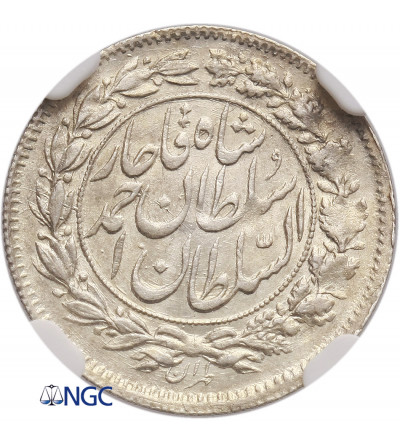 Iran Shahi Sefid (White Shahi) AH 1330 / 1912 AD, Sultan Ahmad Shah - NGC MS 64