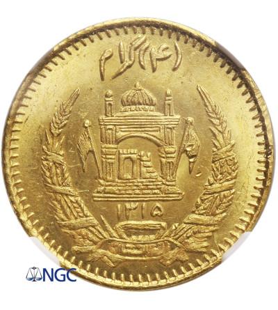 Afganistan Tilla (4 Grams) AH 1315 / 1936 AD - NGC MS 65