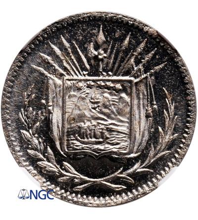 Kostaryka 1 Centavo 1892 (PRÓBA) - NGC SP 66 Cameo