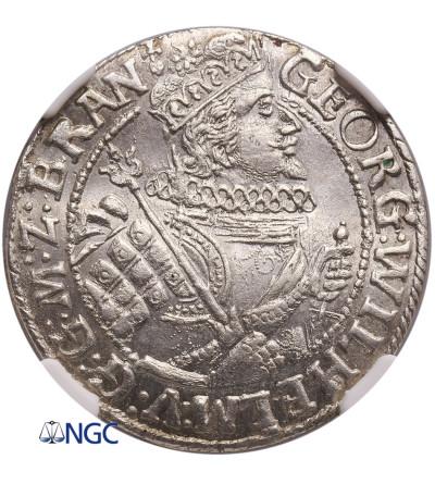Prusy Książęce. Ort (1/4 talara) 1622, Królewiec, Jerzy Wilhelm - NGC MS 63