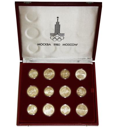 Rosja / ZSRR. Zestaw olimpijski (Moskwa 1980), 28 sztuk 5 rubli i 10 rubli 1977-1980