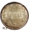 Finlandia (okupacja rosyjska) 1 Markka 1915, Mikołaj II - PCGC MS 66