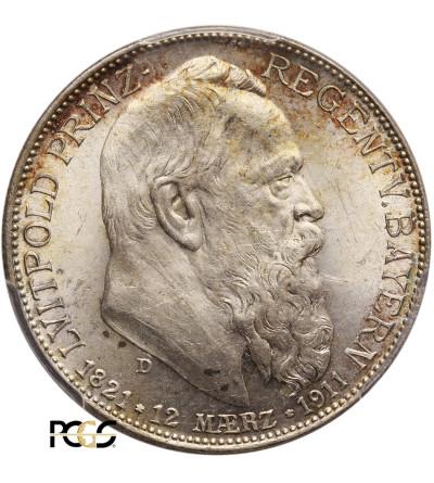 Niemcy. Bawaria 2 marki 1911, Luitpold - PCGS MS 63