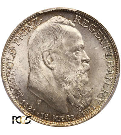 Niemcy. Bawaria 2 marki 1911, Luitpold - PCGS MS 65