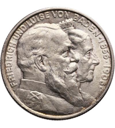 Niemcy. Badenia 2 marki 1906, Złote Gody
