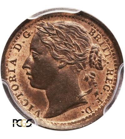 Wielka Brytania 1/3 Farthinga 1885, Wiktoria - PCGS MS 64 RB