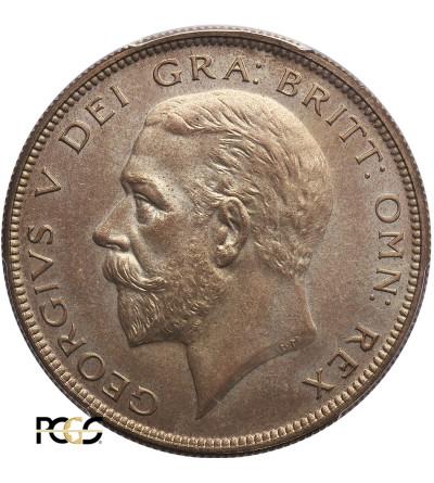 Wielka Brytania Proof 1/2 korony 1927, Jerzy V - PCGS PR 64