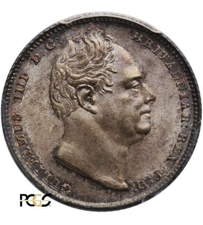 Wielka Brytania 6 Pensów 1835, William IV - PCGS MS 64