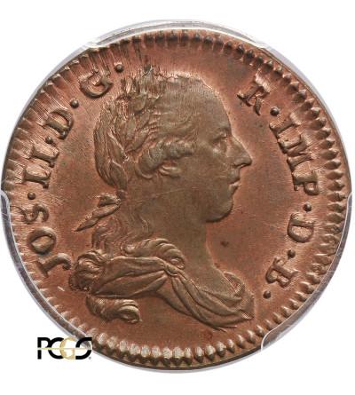 Austrian Netherlands Liard 1789 B, Bruxelles, Josef II - PCGS MS 65 RB